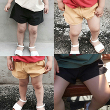 2017 new candy color girls shorts hot summer boys beach pants shorts Kids trousers childrens pants MT004