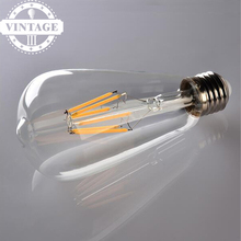 Buy LightInBox Vintage Lampara Incandescent Carbon Filament Bulb ST64 E27 220V LED Retro Lamp Lampada Bombilla Edison Bulb Light for $14.36 in AliExpress store