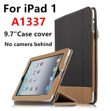 Case For iPad 1 one First generation Protective Smart Cover Protector Leather PU Tablet For iPad1 A1337 A1219 Sleeve No camera(China)