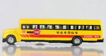 New brand school bus model scale 1:32 ABS Alloy diecast bus model doors can be opened model decoration vehicle toy