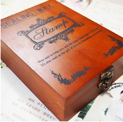 Custom Design Wax Stamp Metal/wooden Handle In Wooden Box Valentines Birthday Gift Ancient Seal Deluxe Suit Wedding Invitations<br><br>Aliexpress
