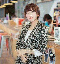 Wholesale Manufacturers Cotton Voile Scarf  Leopard Design  Long Size Scarf