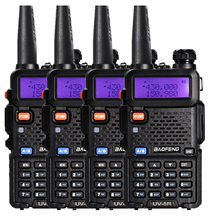 4Pcs/lot Baofeng UV-5R Walkie Talkie Ham Radio UHF&VHF 136-174MHz&400-520MHz 128 Dual Band Two Way Radio 5W HF Transceiver Rated