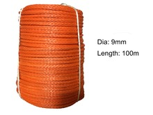 Free shipping 9mm*100meters synthetic winch line uhmwpe rope for ATV/UTV electric winch 4x4 off road accessories