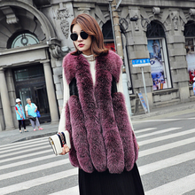 Buy Ptslan 2017 Real Fox Fur Vest Female Winter Autumn Genuine Leather Fox Fur Coat Lady Natural Fur Vest Winter Women for $578.00 in AliExpress store