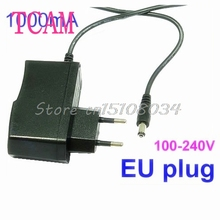 AC100V-240V to DC 12V 1A EU Plug Power Supply Adapter Wall Charger DC 5.5mm x 2.1mm 1000mA #S018Y# High Quality