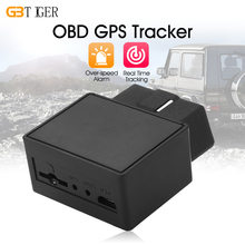 Plug Play GPS Tracker Mini Auto OBD Car GSM Vehicle Tracking Device 16 PIN Interface Monitor Locator with Over-speed Alarm(China)