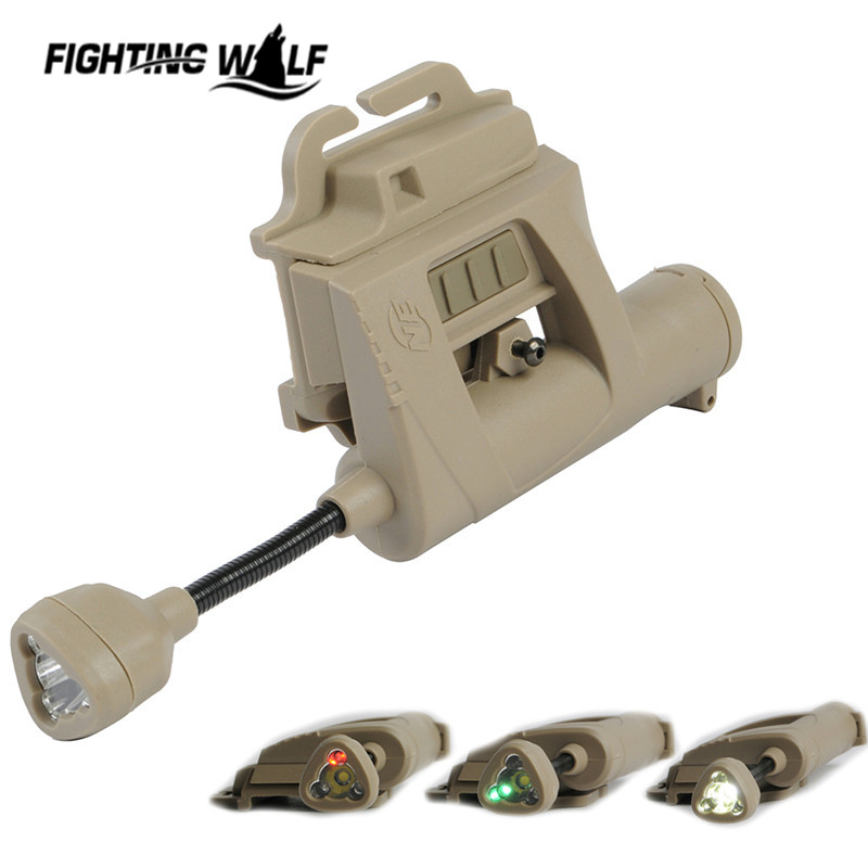 High Quality Camping Tactical Combat Outdoor Flashlight Night Evolution Charge MPLS Helmet Light Illumination Tool Tan/Black<br><br>Aliexpress