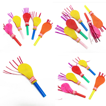 50pcs New Whistle balloon birthday party balloons with whistle balloons toys will be called balloon clown props