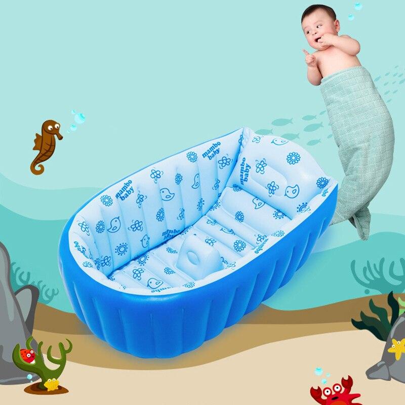 Portable Inflatable Baby Bath Kids Bathtub Children Tub Baby Swimming Pool  Folding Washbowl