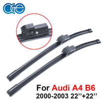 Oge Pair Windscreen Wiper Blades For Audi A4 B6 2000 2001 2002 2003,Fit Windshield Solf Rubber Wipers Arm,Car Accessories
