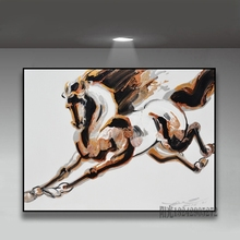 original decoration abstract painting hand painted new Chinese oil painting high-grade modern simple painting horse Wall Art