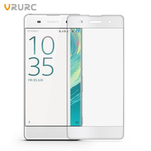 Vrurc For Sony Xperia XA Screen Protector 3D Curved edge Full Cover Tempered Glass For Sony Xperia XA Ultra Protective Film(China)
