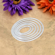 SPECIAL OFFER 6pcs Oval Sewing Thread Metal Die cutting Dies For DIY Scrapbooking Photo Album Decorative Embossing Folder 611101