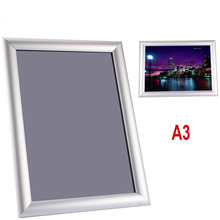1Pc A3 Silver Snap Frame Picture Poster Holder Clip Display Retail Notice Board new