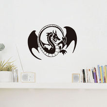 Wall Decal Chinese Style Vinyl Sticker Dragon  Spread Wing Mythical Animal Art Decal Bedroom Living Room Accessories Home WW-143