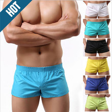 Men's cotton boxer pants household Men of low-rise week seven color pants at home arrow pants breathable gay fashion shorts(China)