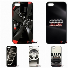 For Huawei Ascend P6 P7 P8 P9 P10 Lite Plus 2017 Honor 5C 6 4X 5X Mate 8 7 9 Fashion For Audi Car Logo Poster Mobile Phone Case