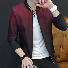 2017 New European an American Mens Spring Autumn Fashion Casual Slim fit Stand Collar Basie jacket Coat Plus Size M-3XL(China)