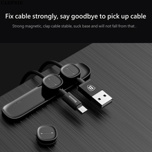 CARPRIE Magnetic Cable Clips Cable Holder Desktop Cable Clip Cord Wire Management No Trace Double-sided Cable Organizer Holder(China)