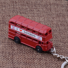 KC-98 exquisite UK i love london red bus key chains high quality Personality silver plated KeyChains(China)