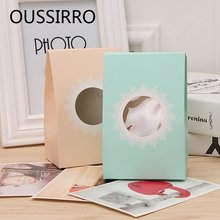 Mini Christmas Gifts Paper Box Childrens Kids Birthday Lunch Box Wedding Party Cake Biscuits Bread Cookies Baking Packaging Bag