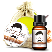 2pcs Lanthome 100% Beard growth oil and Balm All-Natural Leave-In Conditioner Set For gentleman beard Moisturizing Modeling(China)