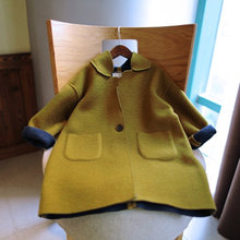 2017 Antumn Outwear Warm Brown Woolen Coats For Toddler Kids Clothing Winter Wool Coat for Baby Girls Boys Kids Clothes