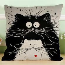 7 Style Cartoon Cats Throw Pillow Case Cushion Cover Bed Home Decor Throw Pillow Cover Square 45*45cm Decorative Pillowcase