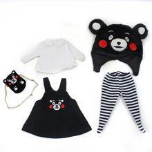 Free shipping Factory plump blyth clothes kumamon suit DIY ICY plump doll fashion accessiories 30cm fat body doll cute suit(China)