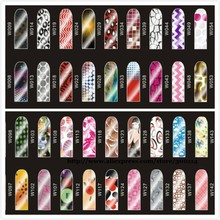 wholesale Mix Styles Self Adhesive Trendy Nail Sticker Wraps Nail Foil Nail Patch Art Product 500pks/lot free EMS/FEDEX shipping