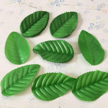 160pcs Green Christmas Leaves Artificial Flower For Wedding Decoration Garland Rose Leaf Foliage Decorative Craft Fake Flowers(China)