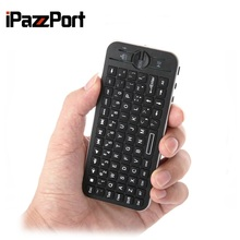 iPazzPort KP-810-16BR Mini Pocket Wireless BT Remote Control Keyboard QWERTY Keyboard iOS System for iphone TV projector(China)
