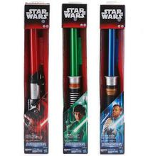 Star Wars Lightsaber with Light Sound Led Red Green Blue Saber laser Telescopic Sword Toys Birthday Gifts kids Adult Game PVC(China)