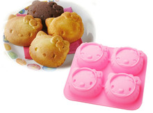 D040 DIY Hello Kitty Silicone Cake Mould,Handmade tool soap mold Mold,Kids Christmas bakeware