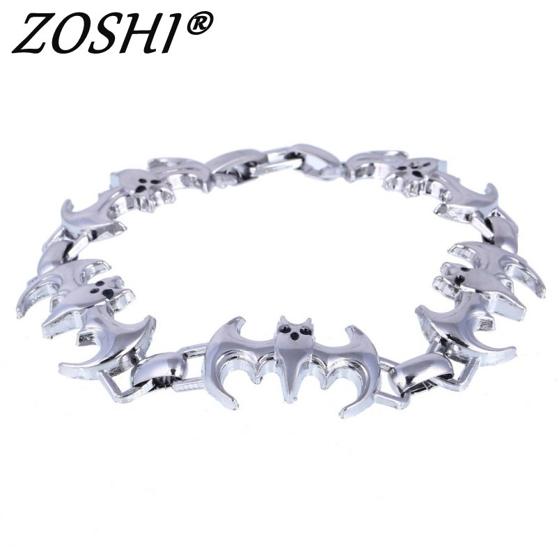 New Arrival Men Stainless Steel Bracelet Bat Style Men Jewelry Accessories Male Charms Bracelets & Bangles Wristband pulseira