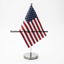 U.S.A Table Flag with Stand 14*21CM High Quality Can be your logo(China)