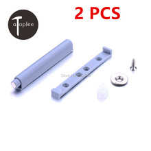 Free Shipping 2 PCS Push To Open System Cabinet Damper Buffer For Cabinet Plastic Door Hinge Drawer With Magnetic Tip(China)