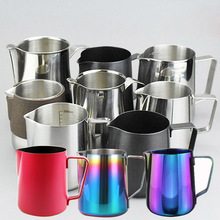 Espresso Stainless Steel Coffee Pitcher Barista gear 350ml 600ml 10 more types choice Kitchen Coffee Milk Frothing coffee Jug