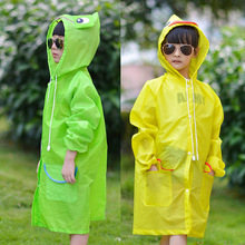 Kids Raincoat Poncho Waterproof Children Cartoon 1PCS Animal-Style Student