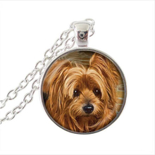 2016 AliExpress Hot Sale Animal Jewelry Dog Photo Pendant Choker Necklace Men Women Gift For Dog Lover Necklace Puppy Jewellery