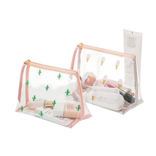 Cute PVC Mini Cosmetic Bag Transparent Waterproof Clear Organizer Pouch Lovely Makeup Bags Beauty Accessories Supplies Product