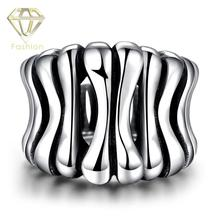 Right Hand Rings Punk Rock Stainless Steel Silver Plated Rows Of Bone Skeleton Ring Motor Biker Jewelry for Men Patry Gifts(China)