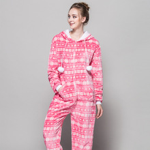 Zipper Pyjama Christmas Women Snow Pink Pajamas Onesie For Teenagers Lady Adults Selling Best Pijamas In Chinese Market Online