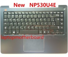 NEW For samsung NP530U4E 530U4E BR Brazil laptop keyboard with ASH BLACK case Touchpad BA75-04648P