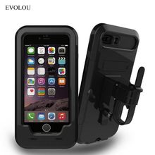 Waterproof Bike Phone Holder Motorcycle Telephone Support Stand for Iphone 7 7 Plus 6s SE 5s Shockproof Cases for Iphone Holder(China)