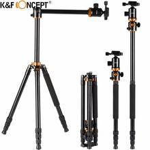 "K&F CONCEPT 72"" Professional Camera Tripod Stand Travel Portable Monopod Ball Head 360 Level Scale Stable For DSLR Camera TM2534"