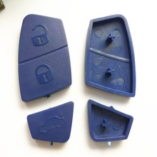 high quality key cover for Fiat blue remote key 3 buttons rubber pad and fiat Button skin