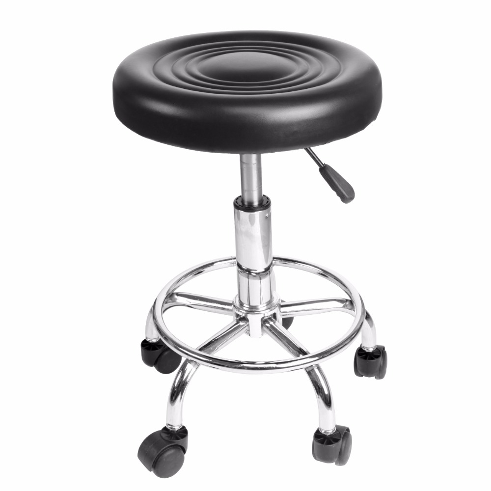 (ship from USA) Hydraulic Rolling Swivel Stool Adjustable Tattoo Facial Massage Spa Salon Black <br>