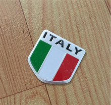 Automobile Motorcycle Exterior Accessories Shield-shap Italy Italian National Flags Car Body Stickers(China)